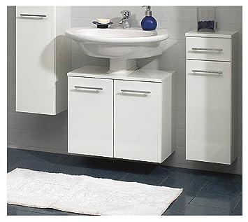 Waschbecken Mit Unterschrank 55 Cm Breit.Pelipal Badmöbel Minimo Waschbecken Unterschrank 55 Cm 2 Türig Syphonausschnitt Weiß Hochglanz