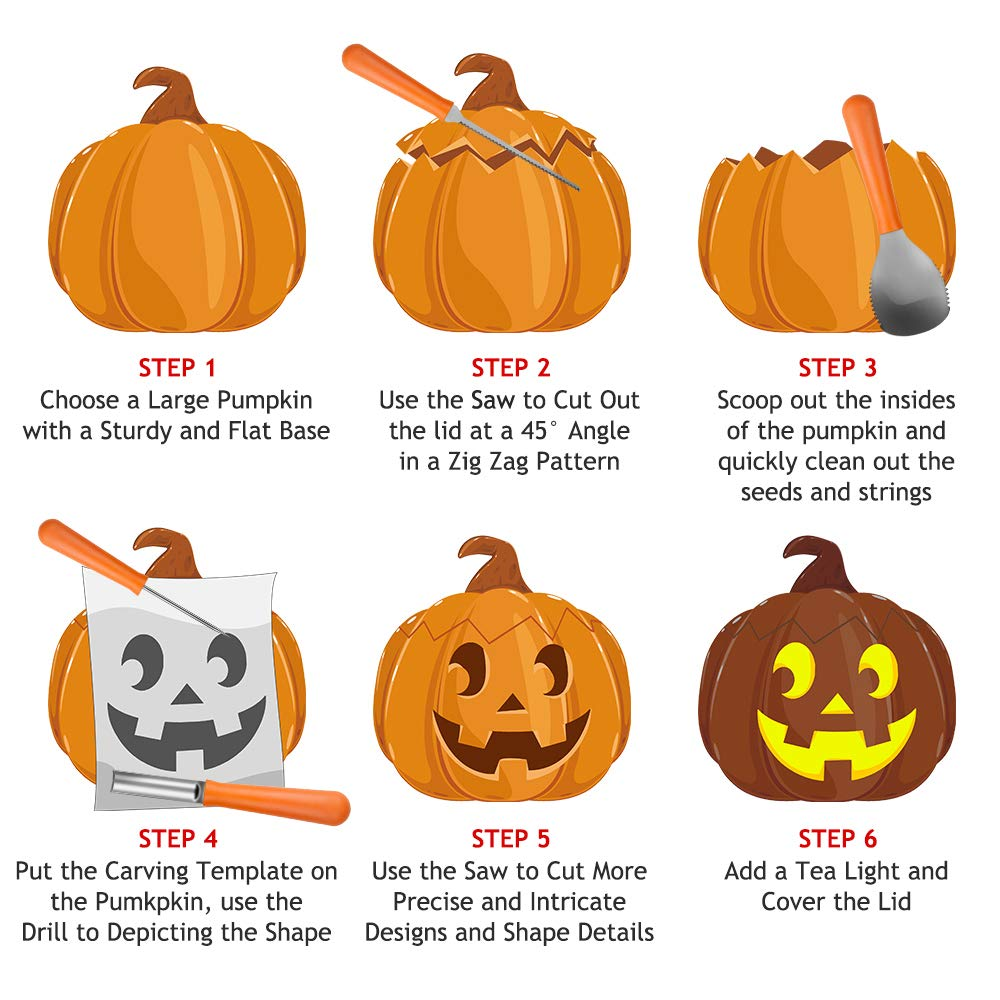Amazon Halloween Pumpkin Carving Kit Big House Professional