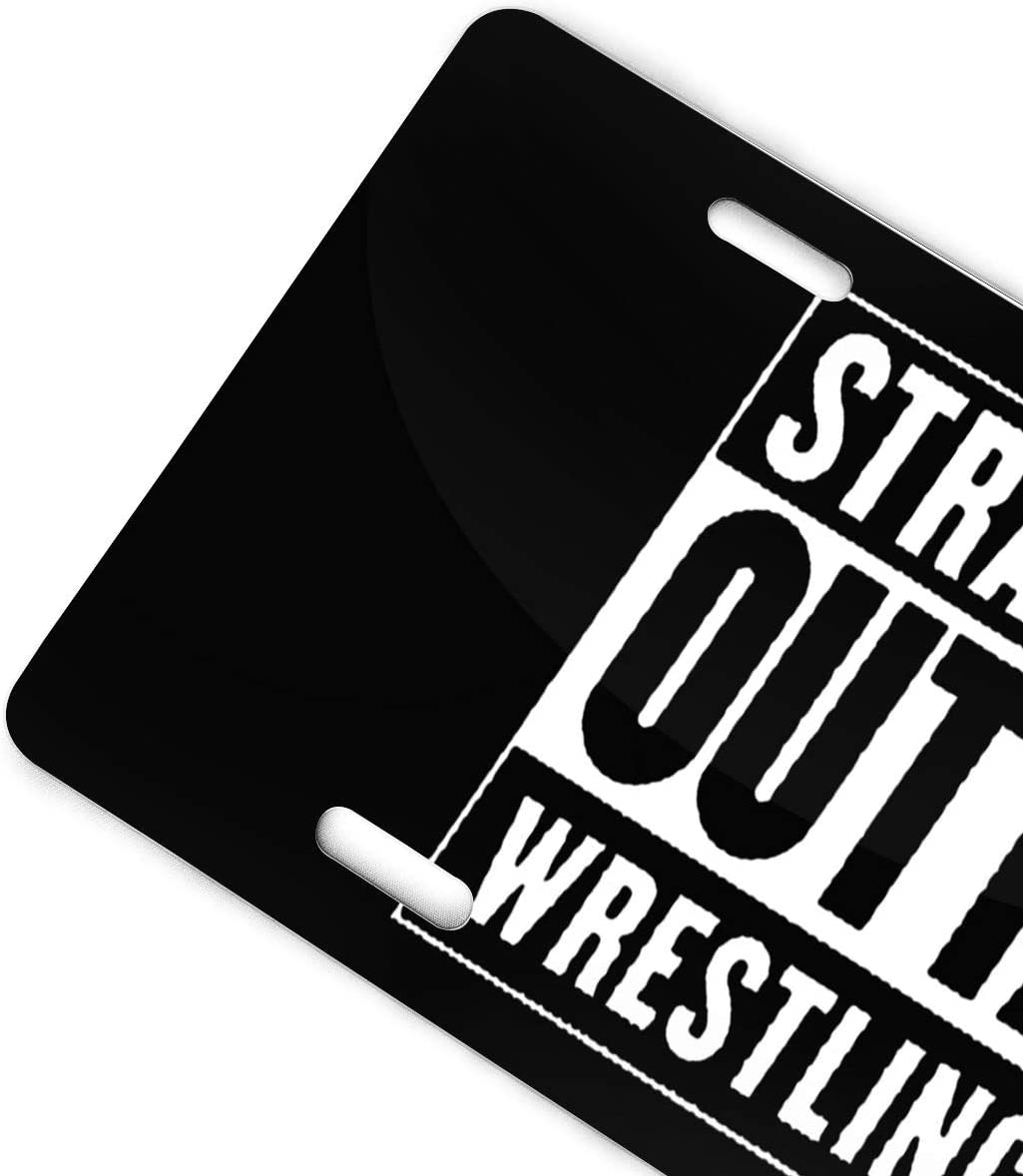 Straight Outta USA Wrestling Personalized Custom Novelty Sign Tag Aluminum License Plate 6 X 12-1PCS