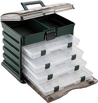 TOPIND caja de herramientas para pesca con 4 capas de plástico ...