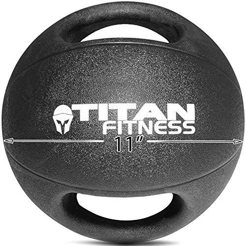 Titan Fitness 20 Lb Dual Grip Medicine Ball Rubber Muscle