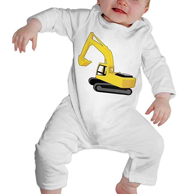 ef7e44a25 Amazon.com: Baby Girl Long Sleeve Jumpsuit Digger Excavator Clip Art Toddler  Jumpsuit: Clothing
