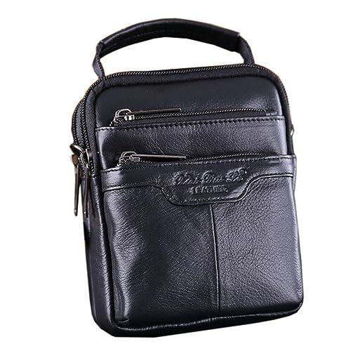 803a43f0f0f5 Xieben Waist Bags for Men Leather Shoulder Bag Handbag Fanny Pack Cellphone  Phone Pouch Waterproof Work