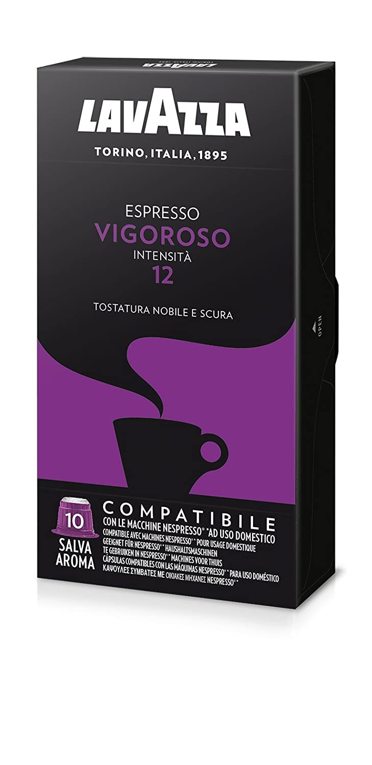 Lavazza Vigoroso Nespresso compatible 40 Capsules: Amazon.com: Grocery & Gourmet Food