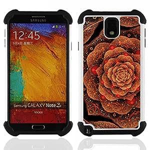 Jordan Colourful Shop - Cabbage Floral Pattern Copper Bling Gold For Samsung Galaxy Note3 N9000 N9008V N9009 - < Llevar protecci????n de goma del cuero cromado mate PC spigen > -