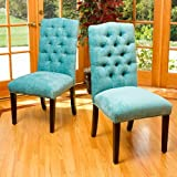 Christopher Knight Home 295077 Crown Top Dining Chair, Light Teal For Sale