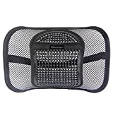 Go Lumbar Support | Extra Comfortable Adjustable Breathable Black Mesh Lumbar Back Cushion Support Fit All Types Office Chair Car Seat | Perfect Solution for Fatigue Back Pain Poor Posture Soreness