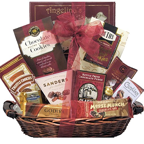 Peace & Prosperity ~ Small: Gourmet Holiday Chocolate Gift Basket
