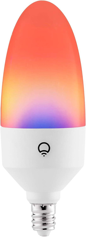 LIFX E12 Candle Color Wi-Fi Smart LED Light Bulb, PolychromeColor, Multi-Zone Dimmable, No Hub Req, App & Voice Control, Compatible with Alexa, Apple HomeKit, Google Assistant & Microsoft Cortana