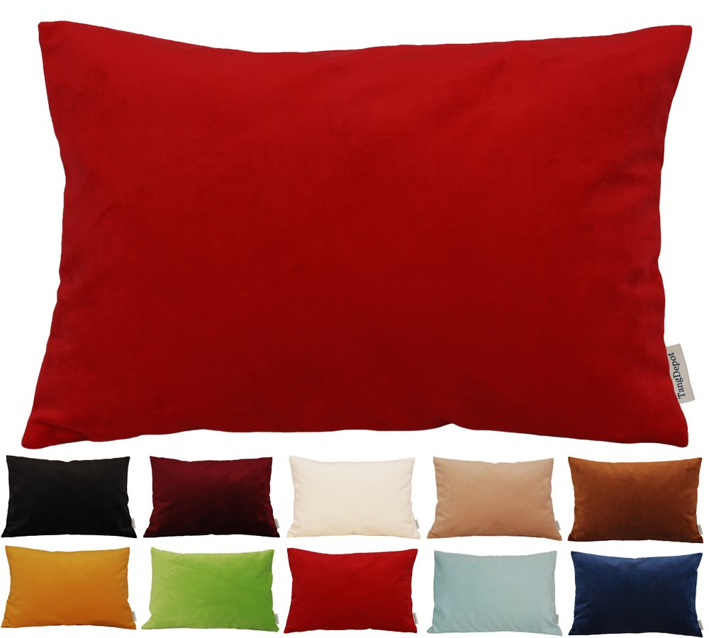 TangDepot Solid Velvet Throw Pillow Cover//Euro Sham//Cushion Sham 12x12, Black Super Luxury Soft Pillow Cases Many Color /& Size options -