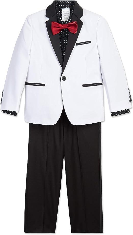 Amazon.com: Calvin Klein Boys 4-Piece Formal Suit Set: Clothing