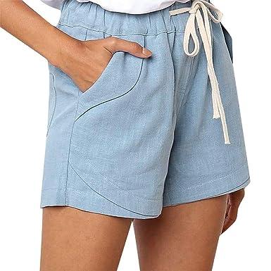 FELZ Pantalones Mujer Pantalones Cortos Mujer Pantalones Casuales ...