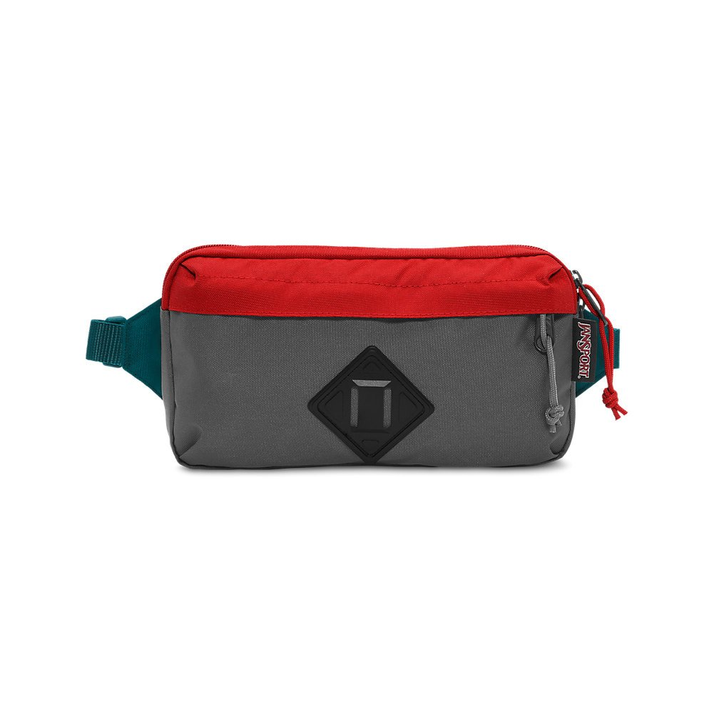 JanSport Waisted Fanny Pack - Forge Grey/Red Tape - Adjustable
