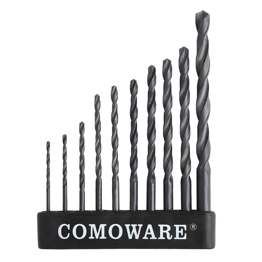 1//16-1//2 29Pcs Cobalt Twist Drill Bit Set M35 Jobber Length for Metal Wood Plastic