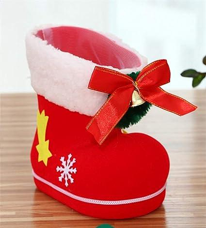 Xmipbs Navidad Flocking Calcet¨ªn Botas de Caramelo Bolsa de Regalo de  Caramelo ¨¢ 8ed56db72c3e8