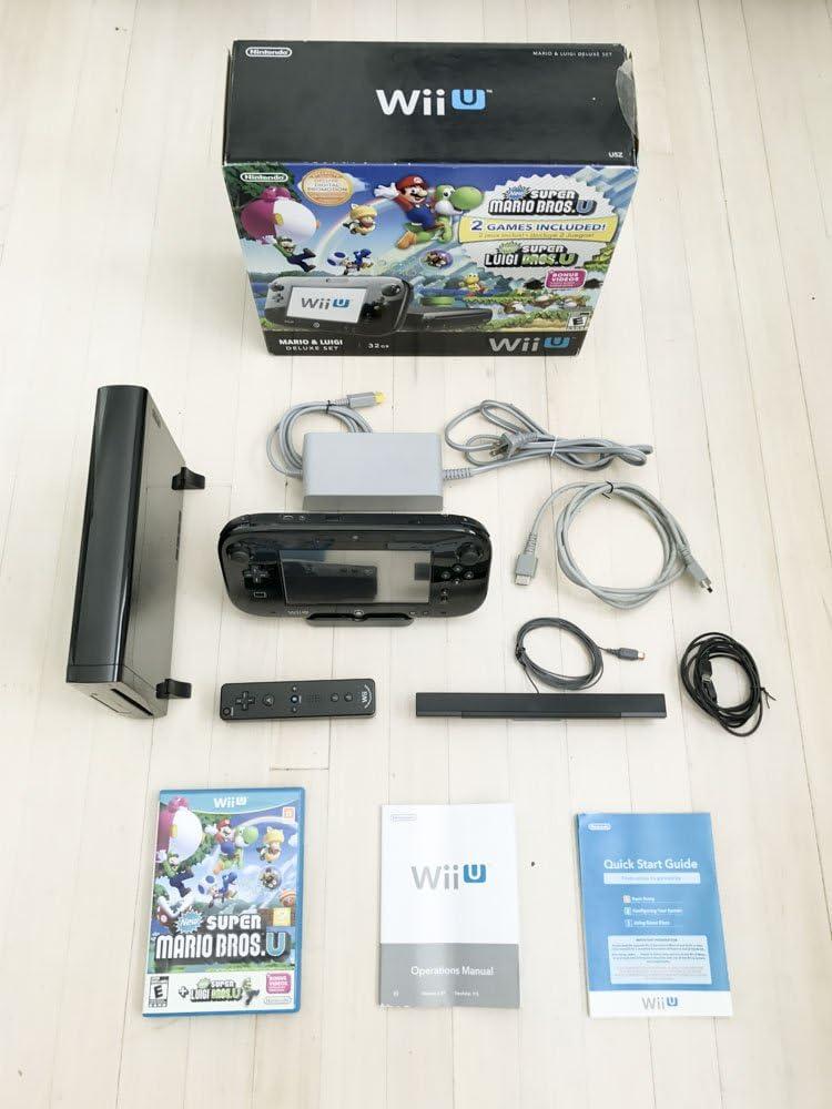 amazon com nintendo wii u deluxe console set new super mario bros rh amazon com New Wii wii u price guide