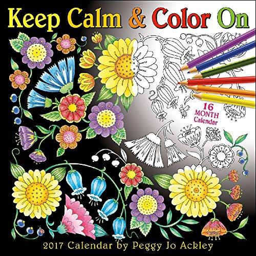 Keep Calm & Color On 2017 Wall Calendar