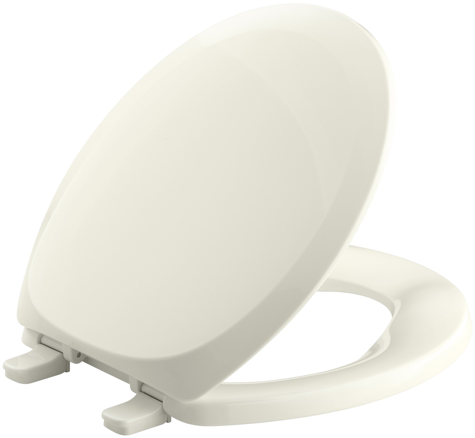 KOHLER K-4663-96 French Curve with Quick-Release Hinges Round-front Toilet Seat, Biscuit by Kohler