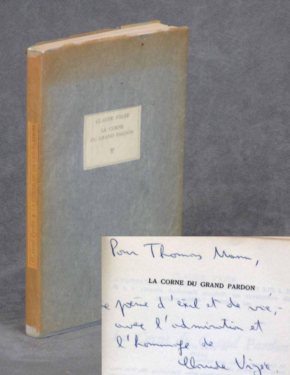 Amazonfr La Corne Du Grand Pardon Poème Vigée Claude