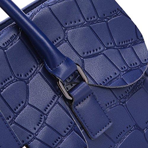 Cuir Sacs Sac Crocodile Main Bandoulière Sac KAXIDY Main Cartable à Noir Portés à Bleu Cartable SnwxIxaqRv