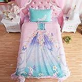 Princess Bedroom Set For Little Girl Pink Bedding Comforter Duvet Cover Sheet Set