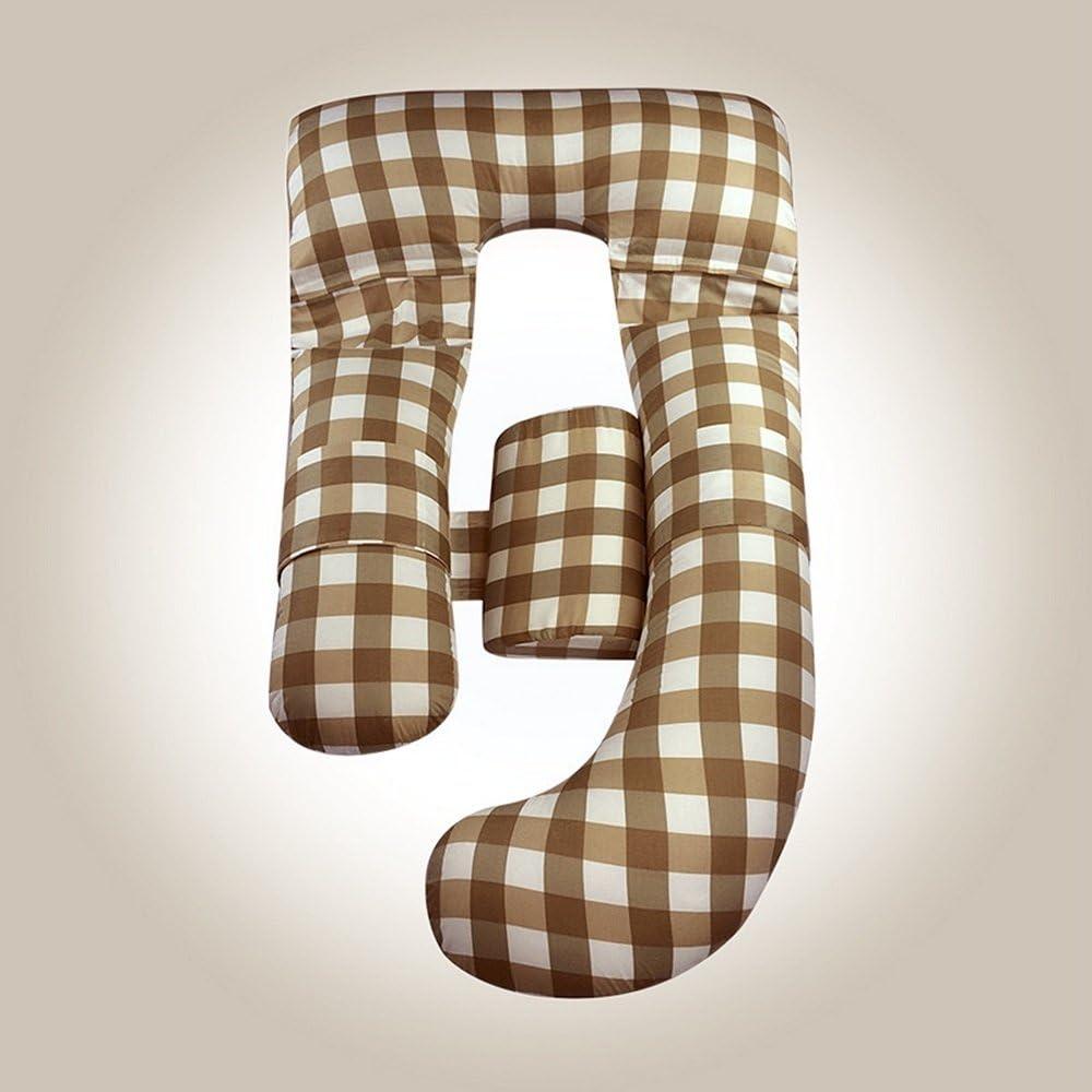 Oreiller De Grossesse U-Type Multi-Fonction Taille Side Sleeping Oreiller Coton Lavable Oreiller d'allaitement G-Type Femmes Enceintes Oreiller (Color : B)