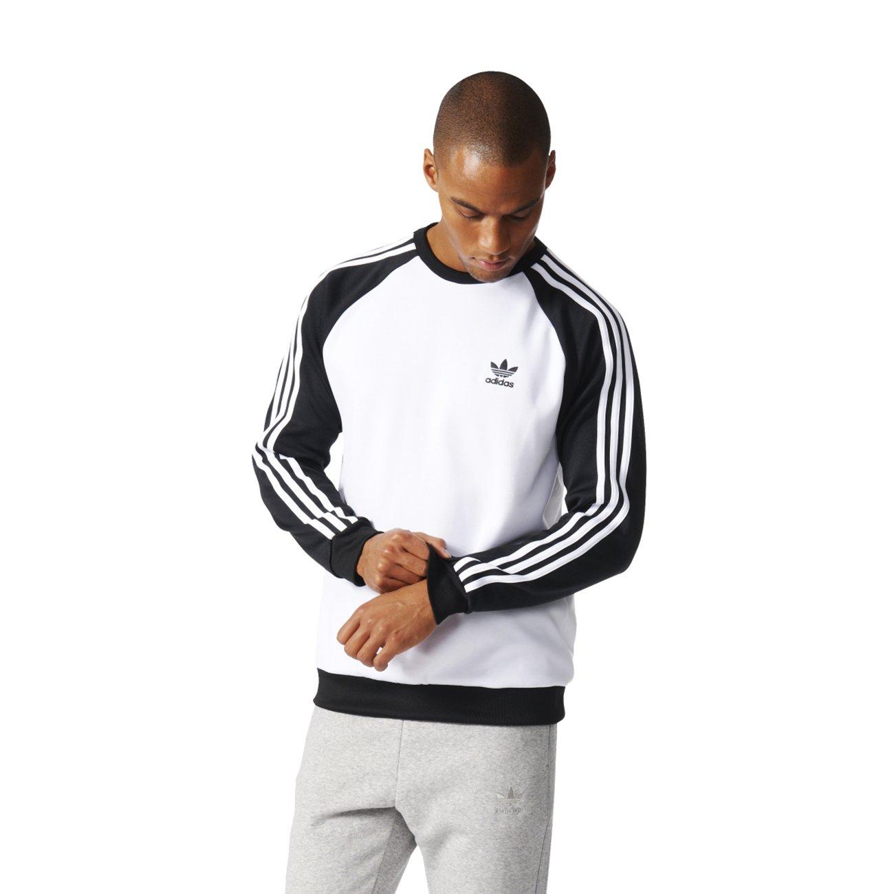 adidas SST Crew Sudadera, Hombre, (Blanco/Negro), M: Amazon.es: Deportes y aire libre