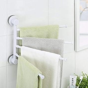 Towel Rack Home Barras de Toalla giratorias de baño montadas en la Pared de ABS,