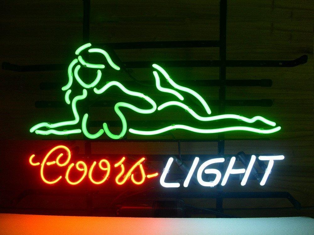 Urby™ 24''x20'' C oors L ight Girl Custom Handmade Glass Tube Neon Light Sign 3-Year Warranty-Unique Artwork! GL44