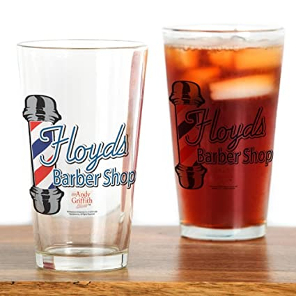 07da1398393 Amazon.com: CafePress Floyds Barber Shop Pint Glass, 16 oz. Drinking ...