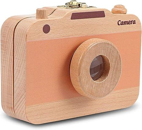 Caja organizadora de madera con forma de cámara para guardar ...