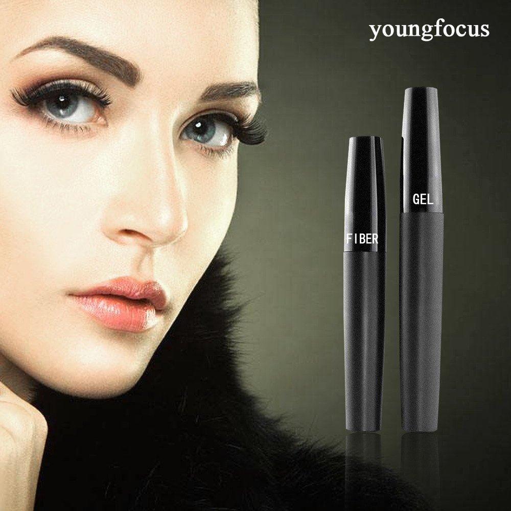 Youngfocus 3d fiber lash mascara-with fiber mascara 3d mascara thickening lengthening natural non-toxic smudge proof & hypoallergenic ingredients by youngfocus (Image #2)