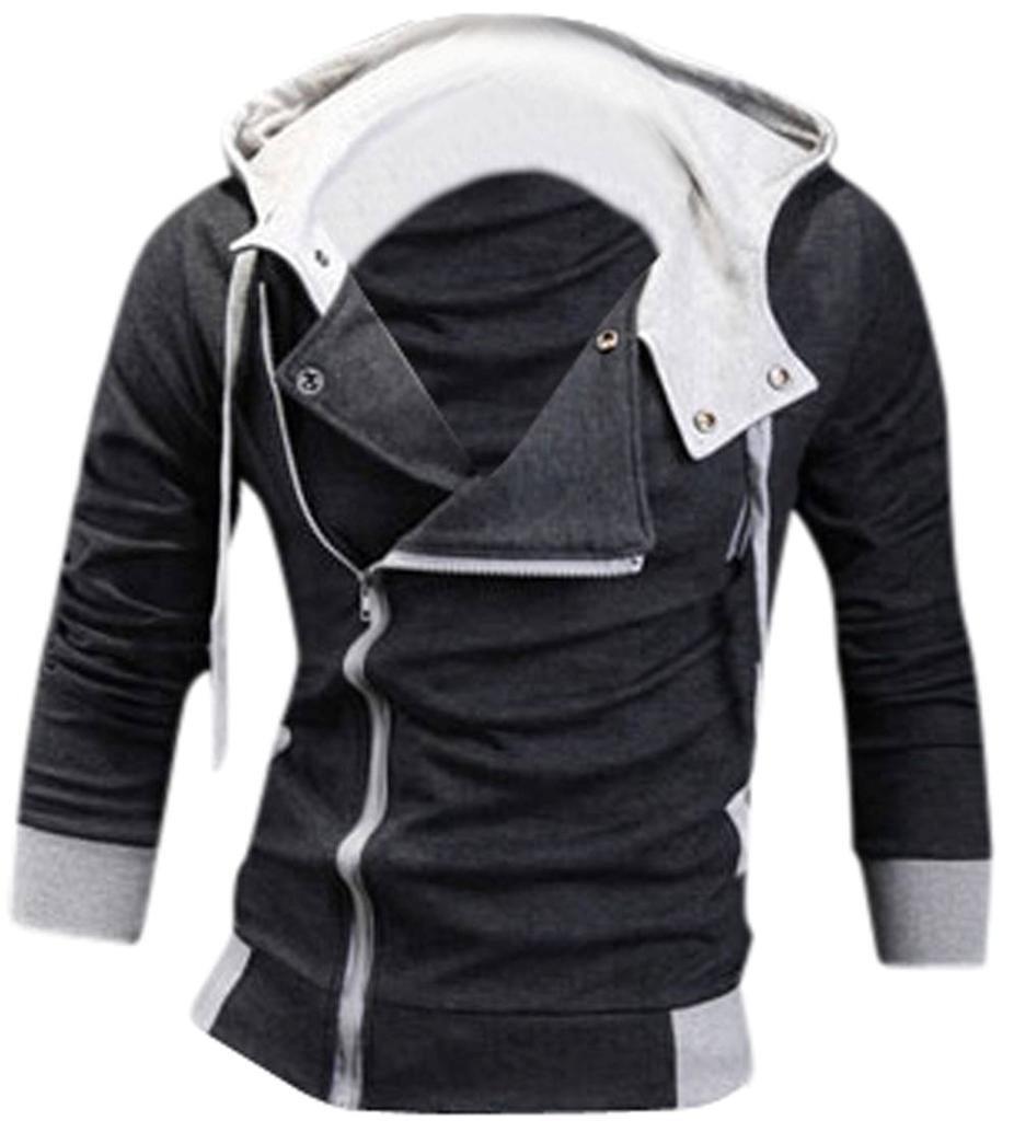 jeansian Men's Slim Fit Jacket Hoodie Shirts 8945