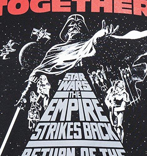 GOZOO Star Wars 40 Years T-Shirt Herren Return Of The Jedi Movie Poster Schwarz