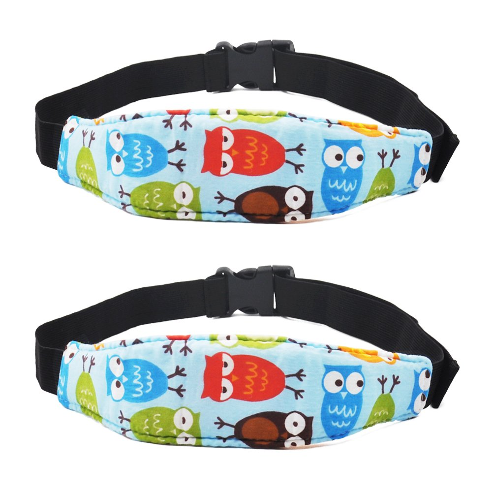 ASBYFR Baby Car Head Support, Toddler Safety Car Seat Sleep Nap Aid, Offers Protection and Safety for Kids-2 Pack