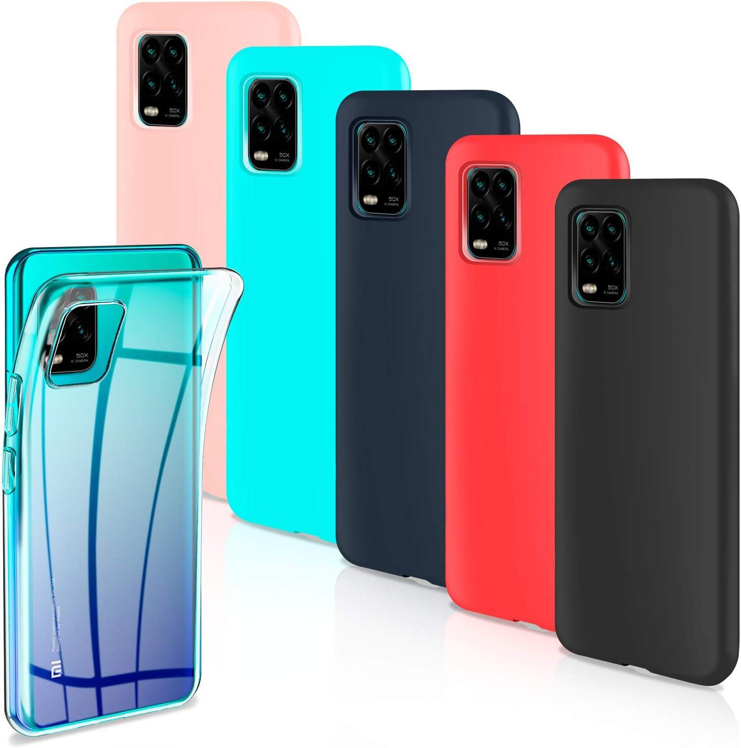 Leathlux 6 x Funda Xiaomi Mi 10 Lite 5G, 6 Unidades Carcasas Juntas Ultra Fina Silicona TPU Flexible Colores Carcasas Xiaomi Mi 10 Lite 5G 6.57