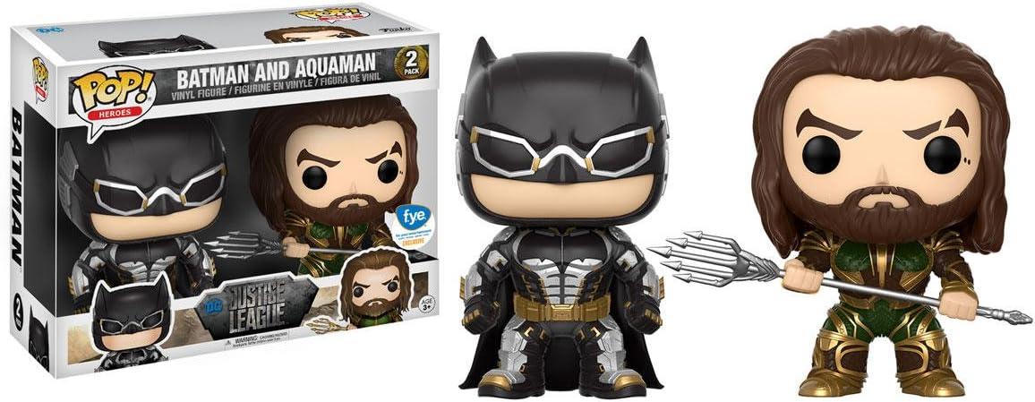 Figuras Pop! Vinyl Movie Justice League Batman + Aquaman Limited: Amazon.es: Juguetes y juegos