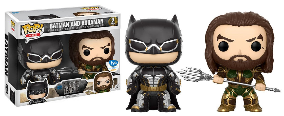 Figuras Pop Vinyl Movie Justice League Batman + Aquaman Limited