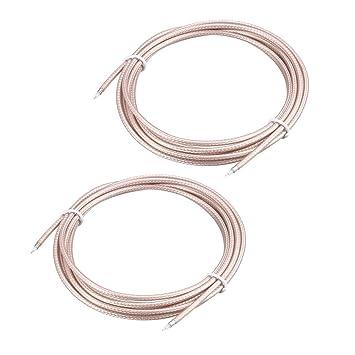 Sourcingmap RG-179 - Cable coaxial RF de Baja pérdida (200 ...