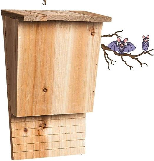 Bels Bat caja de madera maciza, casa de una habitación para murciélagos, resistente a la intemperie,