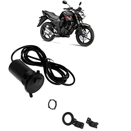 Autokraftz Waterproof Without Switch Phone Mobile Charger for Bike/Cycle Handle Yamaha FZ Bike Mobile Charger
