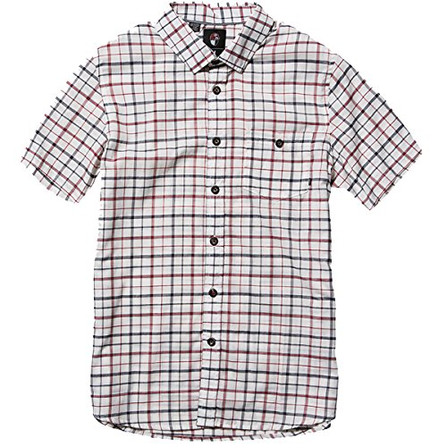 Element Mens Ray barbee Nerd Button Up Short Sleeve Shirt Medium - Bon Ray