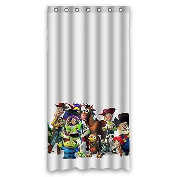 Custom Waterproof Bathroom Shower Curtain 36quot X 72quot Fashionable Toy Story Cartoon Design