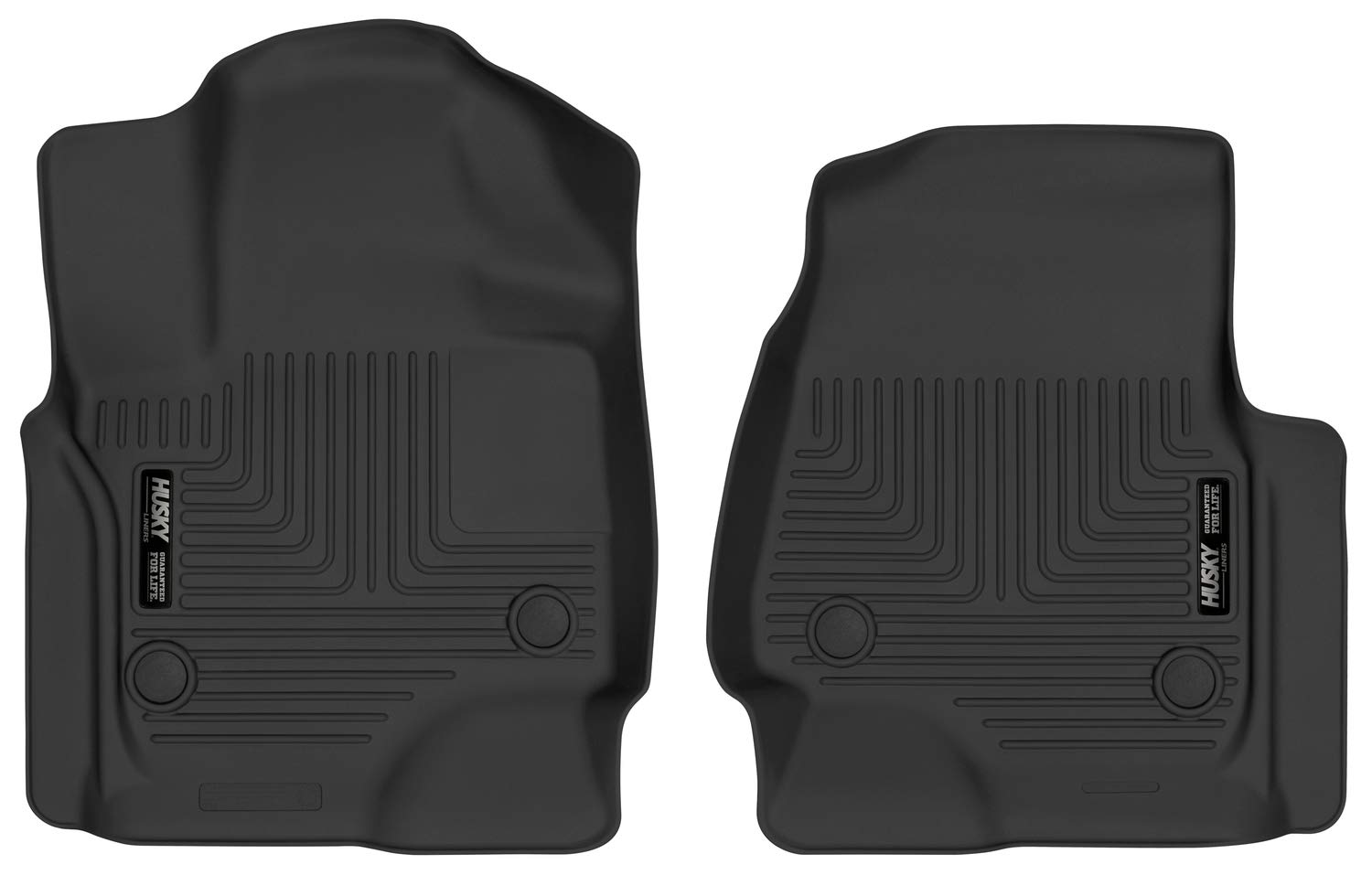 2018-19 Lincoln Navigator X-act Contour Front Floor Liners Husky Liners 54651 Fits 2018-19 Ford Expedition