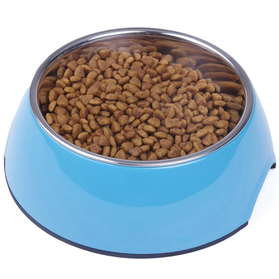 bluee 3 Cup bluee 3 Cup Super Design Dog Cat Bowls Melamine Stand Stainless Steel Bowls for Small Medium Large Dogs and Cats