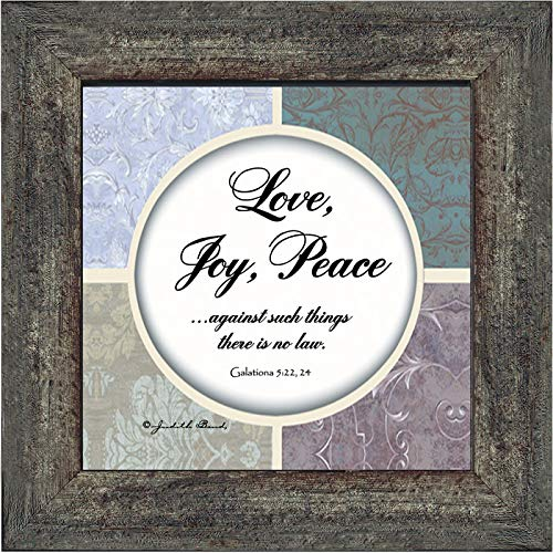 Peace Fruit - Vintage Love, Joy, Peace, Fruits of The Spirit Gifts, Fruit of The Spirit Decor, 6x6 75572BW