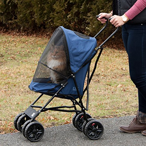 Pet Gear Ultra Lite Travel Stroller, Compact, Large Wheels ...