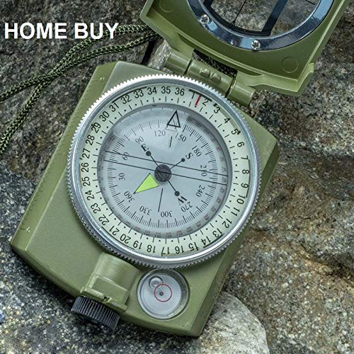 HOME BUY Professional Multifunction Military Army Metal Sighting High Accuracy Waterproof Compass (Green) Price & Reviews