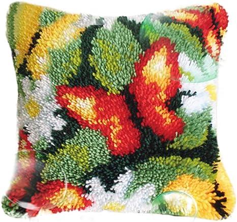 40x40CM Unicorn Hook Pillow Set Crafts Embroidery DIY Crochet Handmade Needlework Supplies Home Decoration