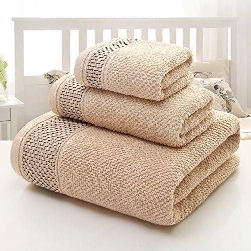 Genérico marrón oscuro, tres juegos de toallas: toalla de baño de ...